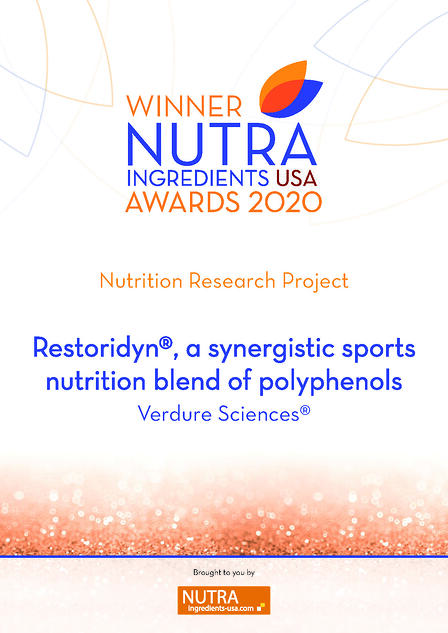 Nutra Ingredients Awards USA 2020 - Restoridyn